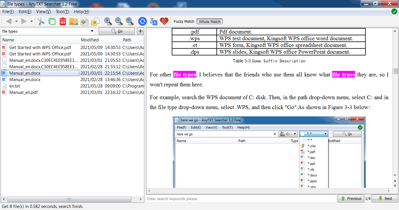 free desktop full text search